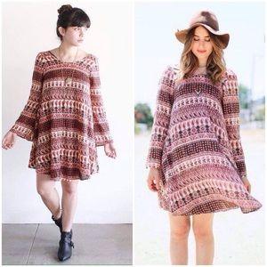 Cleobella Elodie Paisley Wide Sleeve Mini Dress